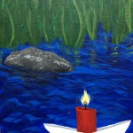 """Spirit Boat"" – Acrylic on Canvas thumbnail"