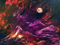 """Goodnight Moon"" – Acrylic on Canvas (SOLD) thumbnail"