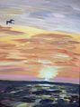 """Sunset on the Rocks"" – Acrylic on Canvas (SOLD) thumbnail"