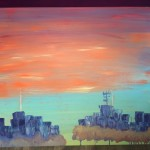 """The City"" – Abstract on Acrylic thumbnail"