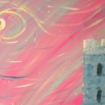 """Castle on a Cloud"" – Abstract Acrylic on Canvas (SOLD) thumbnail"