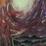 """Moonlit Overlook"" – Abstract Acrylic on Canvas thumbnail"
