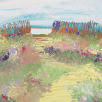 """Flowers by the Sea"" – Acrylic on Canvas thumbnail"