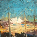 """Sunset on the Palms"" – Acrylic on Canvas thumbnail"