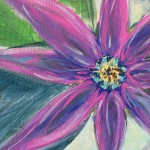 """Aster"" – Acrylic on Canvas (SOLD) thumbnail"
