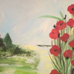 """Poppies"" – Acrylic on Canvas (SOLD) thumbnail"