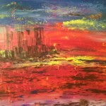 """Sunset on Mars"" – Acrylic on Canvas (SOLD) thumbnail"