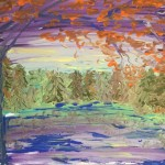 """Dawn in Autumn"" – Acrylic on Canvas (SOLD) thumbnail"