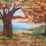 """October"" – Acrylic on Canvas (SOLD) thumbnail"