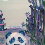 """Panda Crossroads"" – Acrylic on Canvas (SOLD) thumbnail"