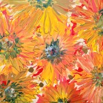 """Gerbera Daisies"" – Acrylic on Canvas thumbnail"