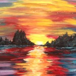"""Sunrise on the Canal"" – Acrylic on Canvas thumbnail"