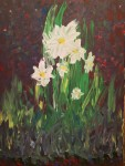 """Winter Lilies"" – Acrylic on Canvas thumbnail"
