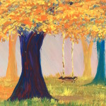 """Autumn Swing"" – Acrylic on Canvas thumbnail"