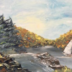 """Sailing in Autumn"" – Acrylic on Canvas thumbnail"