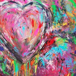 """With Heart"" – Acrylic on Canvas thumbnail"
