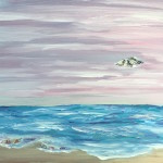 """Washing Ashore"" – Acrylic on Canvas thumbnail"