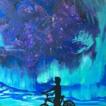 """Boy With Bike"" – Acrylic on Canvas thumbnail"