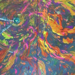 """Clock of the Time Dragon"" – Glow-in-the-Dark Abstract thumbnail"