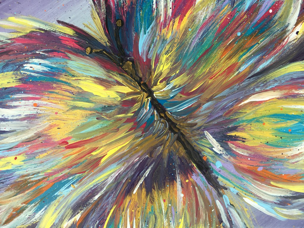 """""""Impavid (Butterfly)"""" Abstract Acrylic on Canvas – July 2016"""