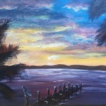 """The Dock of the Bay"" – Acrylic on Canvas [SOLD] thumbnail"