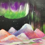 """Violet Mountains"" – Acrylic on Canvas thumbnail"