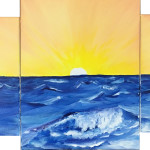 """A Sunset in Three Parts"" – Acrylic on Canvas thumbnail"