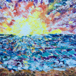 """Impasto Sunset"" – Acrylic on Canvas thumbnail"