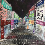 """Street Reflections"" – Acrylic on Canvas [SOLD] thumbnail"