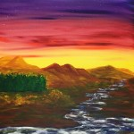 """Pine Ridge"" – Acrylic on Canvas [SOLD] thumbnail"