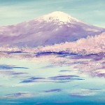"""Fuji in Spring"" – Acrylic on Canvas [SOLD] thumbnail"