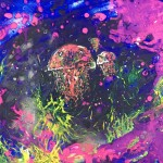"""Jelly"" – Glow in the Dark Acrylic [SOLD] thumbnail"