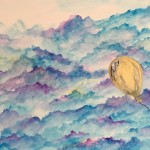 """Floating Balloon"" – Watercolor on Paper thumbnail"