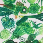 """Greens"" – Watercolor on Paper thumbnail"