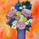 """Bouquet in Pinks"" – Acrylic on Canvas thumbnail"