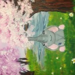 """Little May Elephant"" – Acrylic on Canvas [SOLD] thumbnail"
