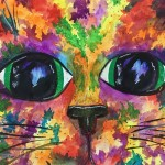 """Celebration Kitty"" – Watercolor on Paper thumbnail"