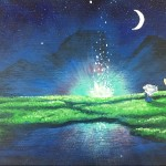 """Fallen Star (Howl's Moving Castle)"" – Acrylic on Canvas thumbnail"