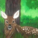 """Paint Me Like One of Your French Fawns"" – Acrylic on Canvas thumbnail"