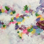 """Peering through the Clouds at a Field of Flowers"" – Acrylic on Canvas thumbnail"