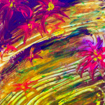 """""""Lilies Floating Downstream"""" (Glow in the Dark) thumbnail"""