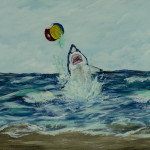 """ChimChim the shark was so excited to catch the beach ball, until he wasn't."" thumbnail"