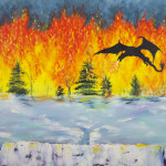 """Fire and Ice"" – Acrylic on Canvas thumbnail"
